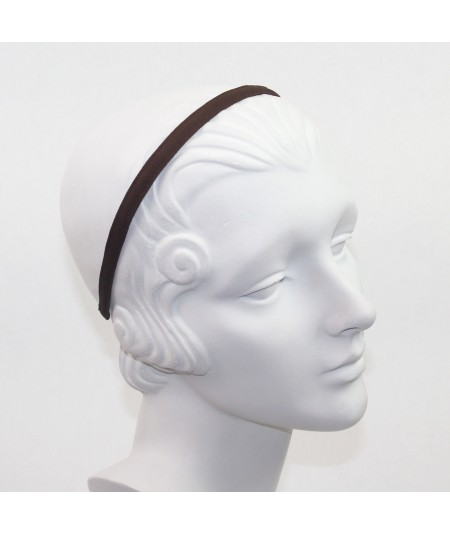 Brown Grosgrain Basic Skinny Headband