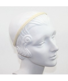 Cream Grosgrain Basic Skinny Headband