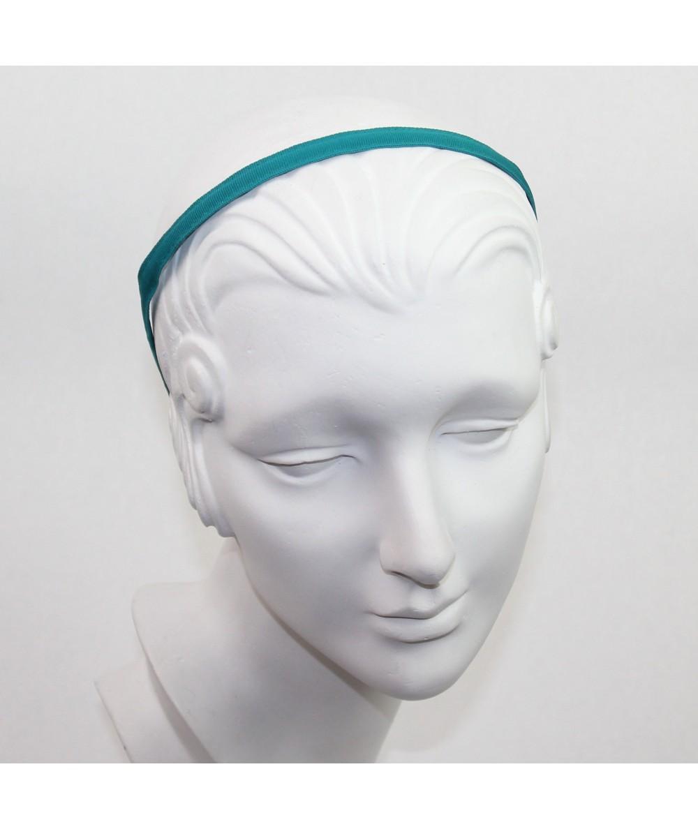 Teal Grosgrain Basic Skinny Headband