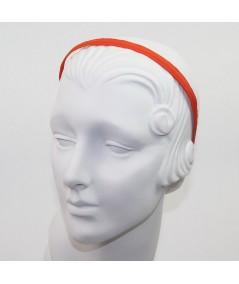 Orange Grosgrain Basic Skinny Headband
