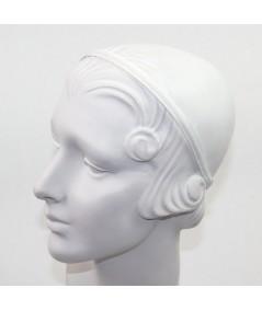 White Grosgrain Basic Skinny Headband