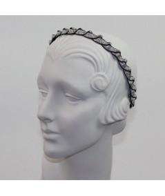 Black and Silver Metallic Braid Headband