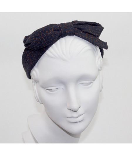Navy and Rust Bow Headband