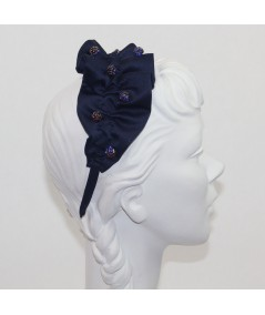 Satin Twist Headband with Stone