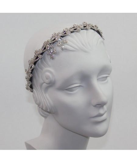 Rhinetone Flower Headpiece