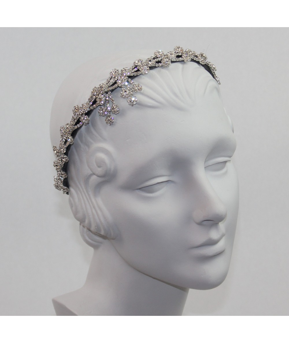 Rhinetone Flower Headpiece