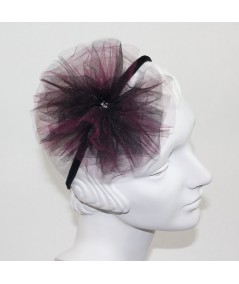 Tulle Two Toned Pom Pom with Rhinestone