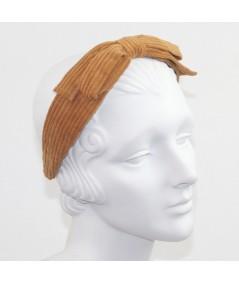 Amber Corduroy Bow Headband