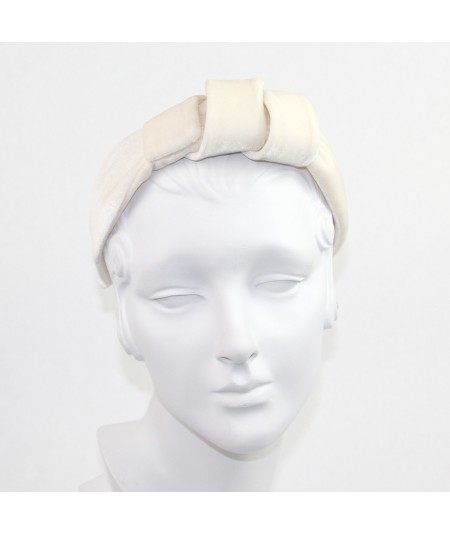 Ivory Velvet Hollywood Headband