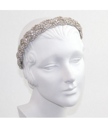 Rhinestones Braid Headpiece
