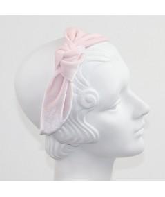 Pink Velvet Side Turban Headband