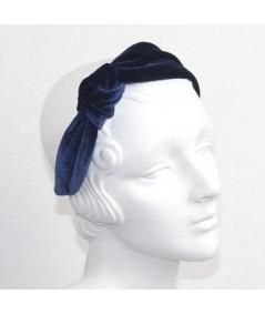 Burgundy Velvet Side Turban Headband