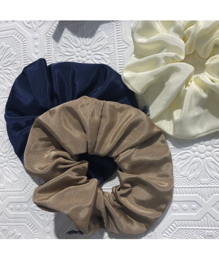 Black - Pecan Bengaline Wide Scrunchies