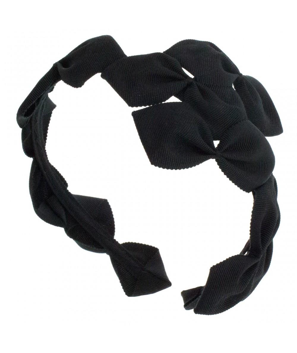 Sabrina Headpiece made of American made grosgrain ribbon