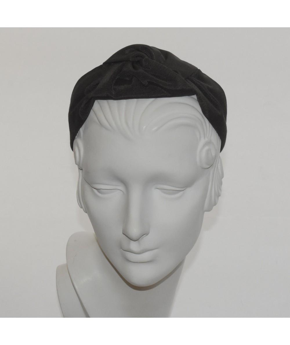 Bengaline Center Turban Headband Black