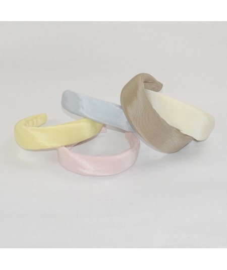 Banana Pale Blue Pale Pink Pecan Ivory Bengaline Wide Padded Headband