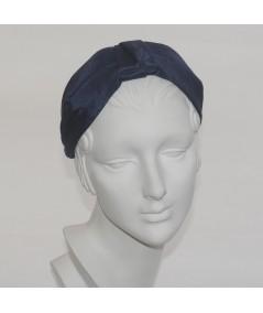 Navy Bengaline Draper Turban Headband