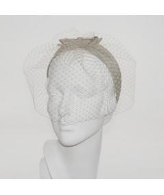 Pecan Face Veil with Bengaline Bow