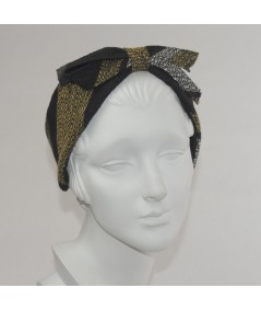 Winter Stripes Boucle Center Bow Earmuffs