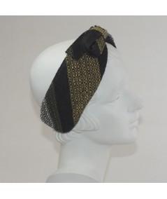 Winter Stripes Boucle Center Bow Earmuffs