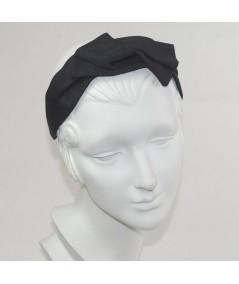 Black Bengaline Swivel Headband