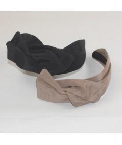 Black Pecan Bengaline Swivel Headband
