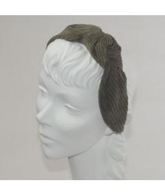 Beige Amber Corduroy Side Turban Headband