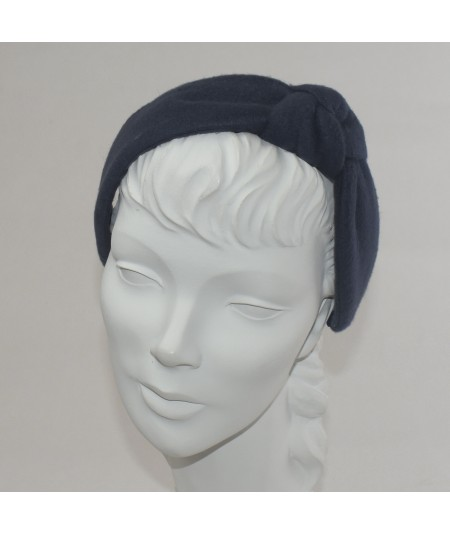 Navy Fleece Side Turban Headband