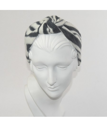 Zebra Print Center Turban Earmuff