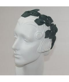 Hunter Sabrina Headpiece made of American made grosgrain ribbon