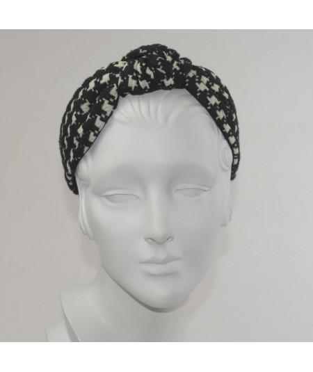Jersey Checkers Center Turban Headband