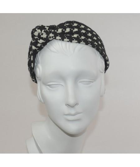 Jersey Checkers Side Turban Headband