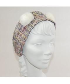 Madison Silk Print Earmuff with Faux Fur Earmuff