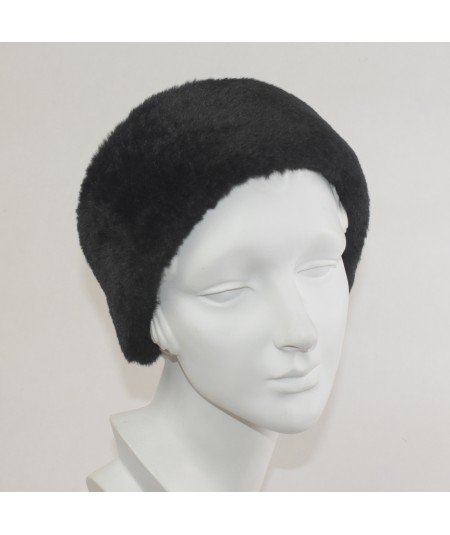Earmuff Faux Fur - Black