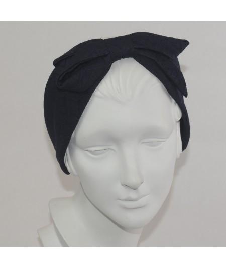Print Fabric Center Bow Headband