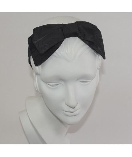 Floral Print Center Double Bow Headband