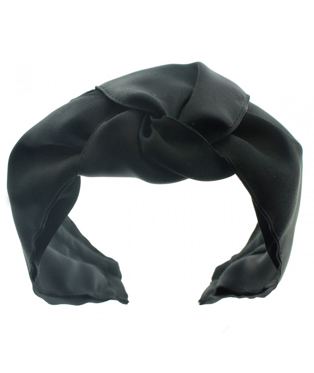 ST10X Black Satin Turban