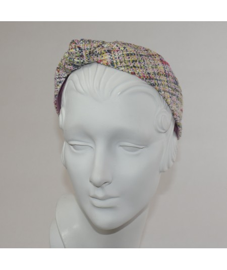 Madison Silk Print Side Turban