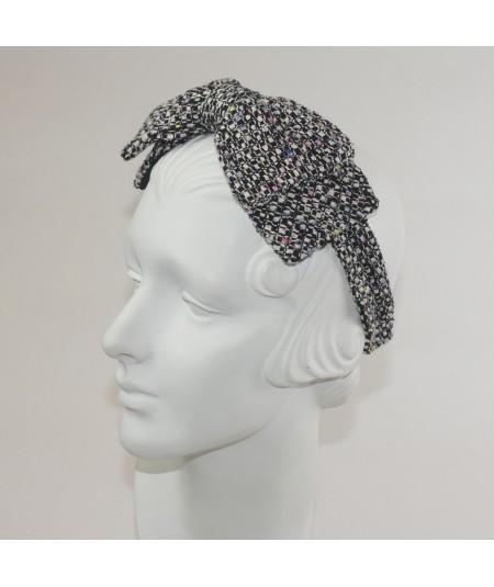 Chelsea Silk Print  Double Bow Headband
