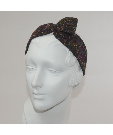Time Square Silk Print Loop Headband