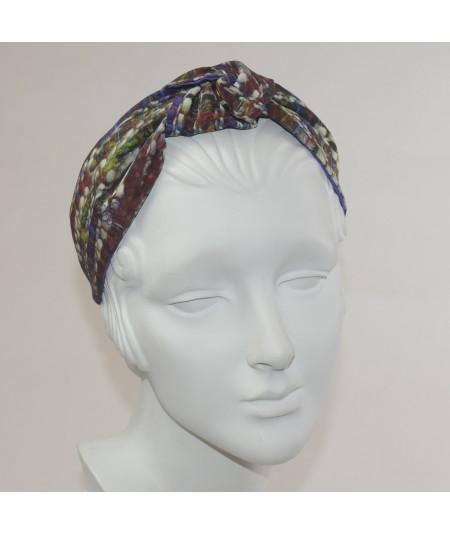 Silk Print Center Headband