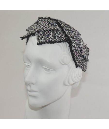 Chelsea Raw Silk Frayed Cross Detail Headband