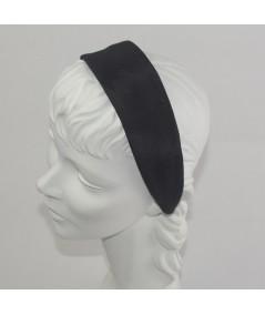 Black Bengaline Wide Headband