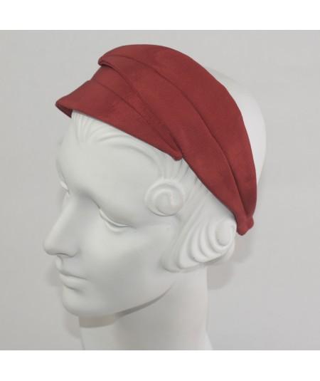 Red Bengaline Double Leaves Headband
