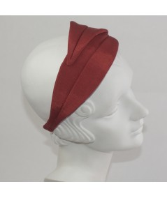 Red Bengaline Double Leaves Headband