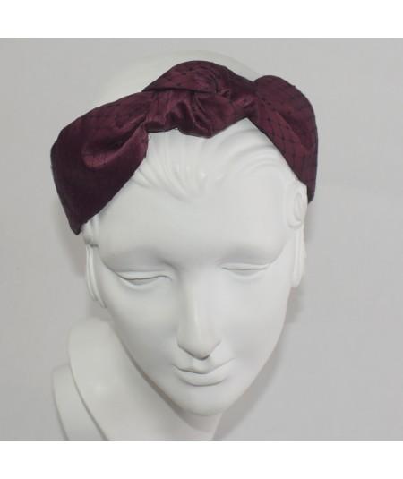 Rogue Satin Covered Black Veiling Blair Headband