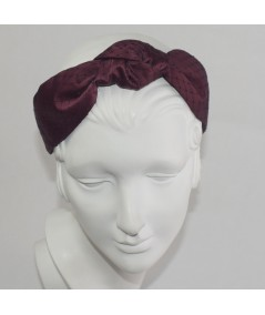 Rogue Satin Covered Black Veiling Blair Headband
