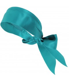 Turquoise basic-extra-wide-satin-headband-with-long-ties-Katie-Holmes