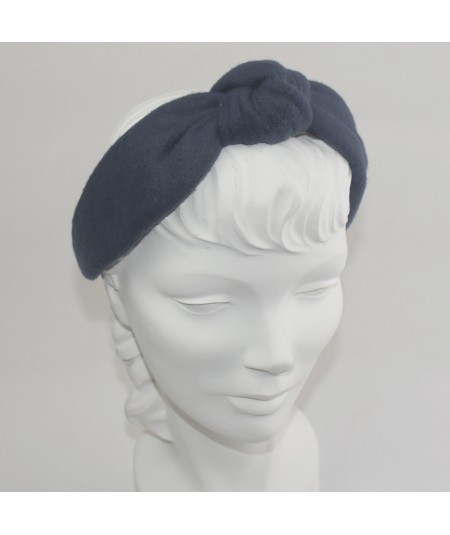 Navy Fleece Center Turban Headband