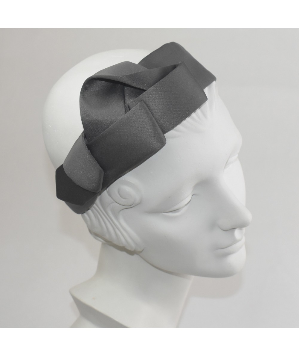 Satin Charmeuse Abstract Side Twist Headband